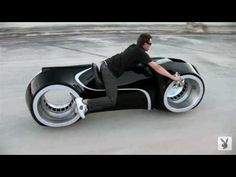 Custom Motorcycle for Playboy's Tron Photo Shoot