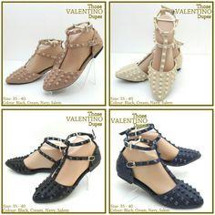 Valentino Dupes Flat 4716 (Navy 36,37,39) (Black 36) (Cream 37,38,39) (Pink 36,37) 230rb