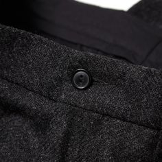 Our Legacy // Classic Pant Wool Dark Grey Shetland Close Up