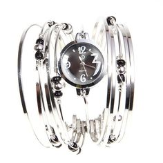 4.85$  Buy now - http://dimbl.justgood.pw/go.php?t=WW0094001 - Fashionable Multi-Strand Rings Bangle Design Quartz Watch with Numerals and Dots Hour Marks for Female 4.85$
