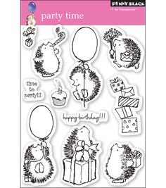 "Penny Black Clear Stamps 5""X7.5"" Sheet - Party Time"