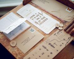 cool label idea... postcard w/ laser di-cut typography