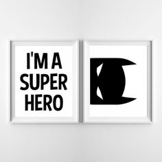 Featured on The Girl Behind the Camera: http://www.thegirlbehindthecamera.co.uk/2016/08/3893.html View for some awesome Super Hero Bedroom decorating ideas :) * PRINTABLE POSTER - INSTANT DOWNLOAD * This listing is sold as a set and includes both posters: Im a superhero & Batman peeping You can change the color and/or size of these posters by purchasing the following add-on as well: http://www.etsy.com/listing/291583245 ***** YOU WILL ...