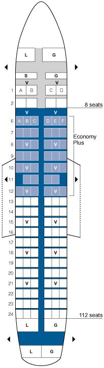 united airlines airbus a319 seating map aircraft chart