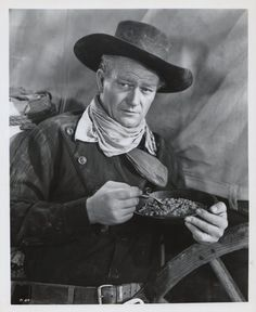RED RIVER (1948) - John Wayne discovers that Joanne Dru is wearing a bracelet with special meaning to him - Directed by Howard Hawks - United Artists. Description from pinterest.com. I searched for this on bing.com/images