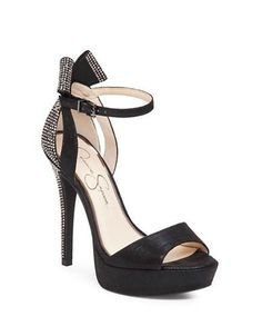 Jessica Simpson Baani Embellished Platform Heels Women's Black 8.5