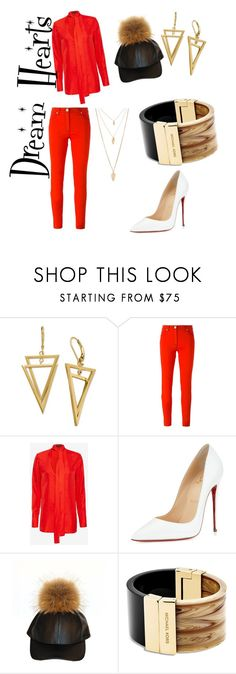 """""""Untitled #19"""" by anndromitta-johnson on Polyvore featuring Versace, rag & bone, Christian Louboutin, Michael Kors, Forever 21, women's clothing, women, female, woman and misses"""
