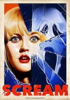 Horror Movie Poster Art : Scream by Flore Maquin Posters Vintage, Retro Poster, Poster S, Movie Poster Art, Vintage Movies, Film Poster Design, Classic Movie Posters, Classic Horror Movies, Iconic Movies