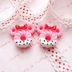 Kawaii Cabochons Decoden Sweets Deco Mickey by SophieToffeeCo, $4.00