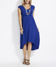 7fbcf8b700d Another great find on  zulily! Blue Maternity  amp  Nursing Stripe Maxi  Dress -