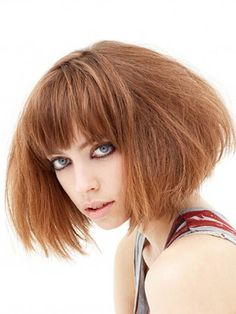 Mid length bob with lots of texture and volume by Windle and Moodie. http://www.windleandmoodie.com/stylebook/mid-length/mid-length-7/ #hairtexture #midlength #windleandmoodie