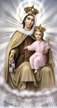 Our Lady of Mount Carmel, Pray for us.  YBH