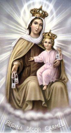 Our Lady of Mount Carmel, Pray for us.     Nuestra Señara del Carmense venera el 16 de  julio