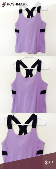 Trendy Light Purple & Black Racerback Workout Tank Size xl! cascade sport Tops Tank Tops