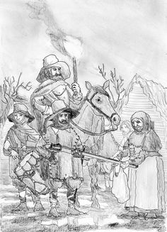 The Brandschatzung during the Thirty Years' War by FritzVicari on deviantART