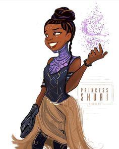 Tiana as Princess Shuri of Wakanda. Marvel Films, Marvel Dc Comics, Marvel Characters, Marvel Heroes, Black Panther Marvel, Shuri Black Panther, Black Panther Character, Wakanda Marvel, Loki
