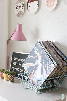 IDA interior lifestyle: DIY :: draining rack//record holder