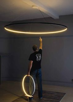 LED direct-indirect light pendant lamp OMEGA 120 - Le Deun Luminaires