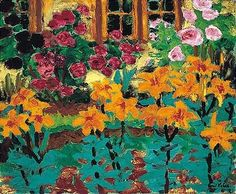 Artwork by Emil Nolde, feuerlilien und rosen, Made of oil on canvas🖤Artist Emile Nolde🖤Fosterginger.Pinterest.Com🖤More Pins Like This One At FOSTERGINGER @ PINTEREST 🖤No Pin Limits🖤でこのようなピンがいっぱいになる🖤ピンの限界🖤