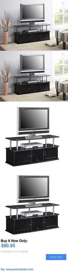 Entertainment Units, TV Stands: Modern 50 Inch Tv Stand Entertainment Center Media Furniture Console Black Flat BUY IT NOW ONLY: $80.95 #priceabateEntertainmentUnitsTVStands OR #priceabate