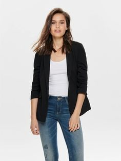 long sleeve v-neck top rayon spandex import style long Reebok, Blazers, Style Rock, Pret A Porter Feminin, Nike, Mannequin, V Neck Tops, Neue Trends, Long Sleeve Shirts