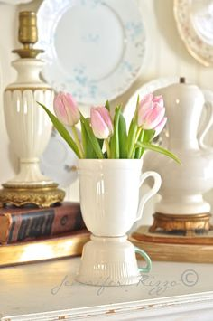 Make a Vintage Tea cup vase {made from old tea and coffee cups}.