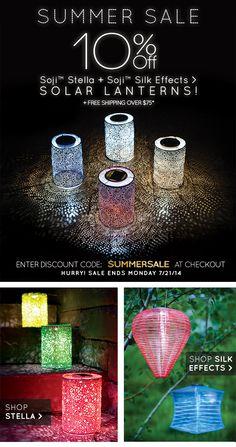 Soji Solar Lanterns Www.allsopgarden.com