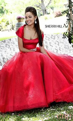 Long Strapless Ball Gown by Sherri Hill at PromGirl.com ------ pageant dress?
