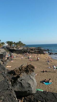 Beach at Puerto del Carmen Lanzarote Spain