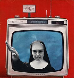 I found a lot of clever photo collages from artist Nicholas Bass, but this piece in particular stuck me in way that I associated it with the socially conscious theme, though it may seem outlandish. Television and religion have the ability control the masses on a large scale if approach correctly. It may be farfetched but that's initial my take.