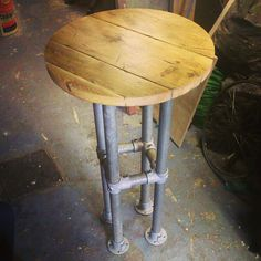 A handmade bar table using reclaimed scaffold boards by Woodwoody, £270.00