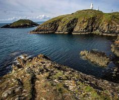 Strumble Head on Ynys Meicel, Pembrokeshire by Nathanael Jones