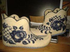 Felted slippers Обувь ручной работы. Ярмарка Мастеров - ручная работа Валенки Гжель 6. Handmade.