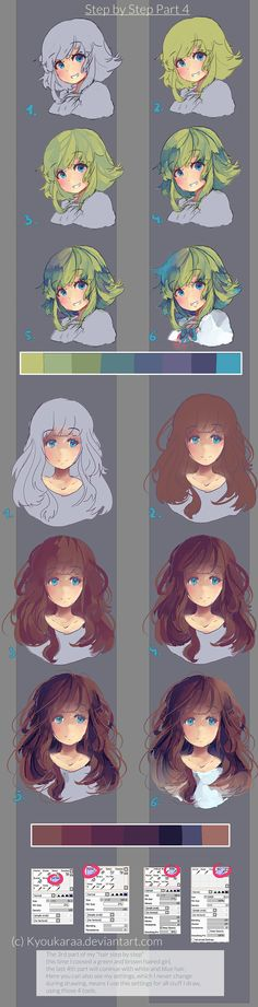 Step by Step Hair Part 3 by KyouKaraa.deviantart.com on @deviantART