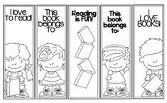 Reading Is Fun Color Me Bookmark Sheet