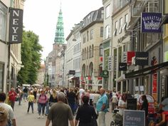 Strøget at Copenhagen, Denmark -- If you want to engage in a bit of retail therapy, head for the Strøget, Copenhagen's primary shopping district.