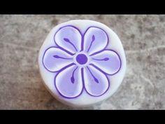 Millefiori cane: fiore lilla con pistilli (polymer clay tutorial)