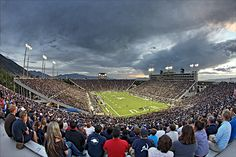 Cool panoramic view of the BYU/USU game