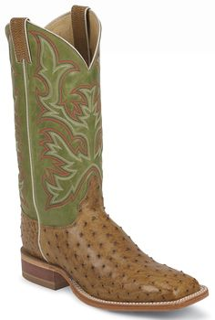 8574 Justin Men's AQHA Remuda Western Boots - Green Western Boots, Cowboy Boots, Justin Boots, Green, Shoes, Fashion, Moda, Zapatos, Shoes Outlet
