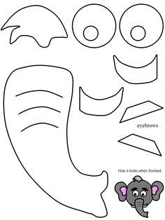 1000 images about elephant costume on pinterest for Elephant template for preschool