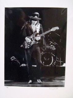 Original photo of Stevie Ray Vaughan in Concord, California in Photo size approx 10 x Photo is matted with a white mat. Total size with mat is 16 x 20 inches. Signed on front of the mat by photographer Larry Hulst. Stevie Ray Vaughan, Classic Blues, Jeff Beck, Concert Photography, Blues Rock, Eric Clapton, Cool Guitar, Death Metal, Rock N Roll
