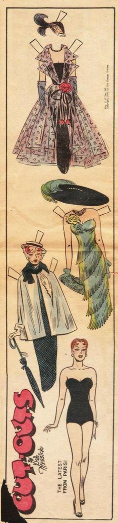 The Paper Collector: Brenda Starr's Paris Fashions, 1950