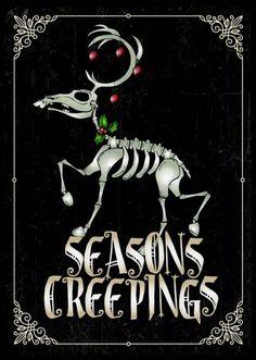 Dark Christmas, Halloween Christmas, Little Christmas, Christmas Art, Halloween Crafts, Xmas, Christmas Humor, Advent, Christmas Drawing