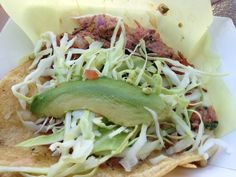 Smoked Marlin Taco | Oscar's Mexican Seafood | 3 locations in San Diego area | best taco LNg's ever eaten!