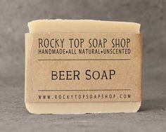 Beer Soap from Rocky Top Soap Shop