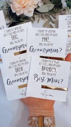 Be My Groomsman, Wedding Gifts For Groomsmen, Groomsmen Proposal, Bridesmaids And Groomsmen, Bridesmaid Proposal, Groomsman Gifts, Groomsmen Cards, Bridesmaid Gifts, Wedding Thank You Gifts