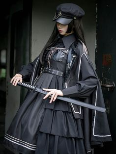 Style Lolita, Gothic Lolita Dress, Harajuku Fashion, Lolita Fashion, Old Fashion Dresses, Military Fashion, Military Style, Alternative Outfits, Look Cool