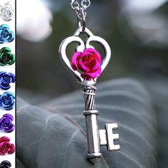 My Medium Rose Key Necklace by KeypersCove on Etsy