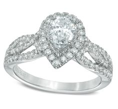 10 most beautiful pear shaped diamond engagement rings. Tacori, Blue Nile, Vera Wang Love, Zales. The signature of the collection and a symbol of faithfulness