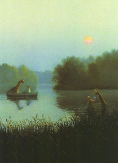 Serene yet surreal. By Michael Sowa.
